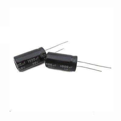10PCS 1000uF 50V 105C 13x21mm Radial Electrolytic Capacitor