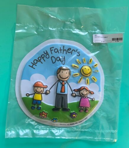 Fathers Day Family Poptop 1 Piece Cake Topper REPACKAGED