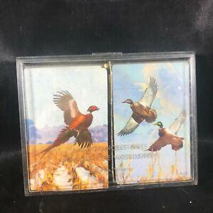 Pair of Vintage Brown & Bigelow Playing Cards Pheasant Mallard Duck