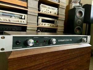 CROWN-D-75-Amplifier-Unit-1-GREAT-CONDITION