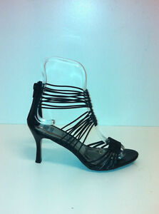 WOMENS-EVENING-SANDALS-034-LONER-034-BY-NO-SHOES-SENSIBLE-HEEL-IN-BLACK-SILVER-BRONZE