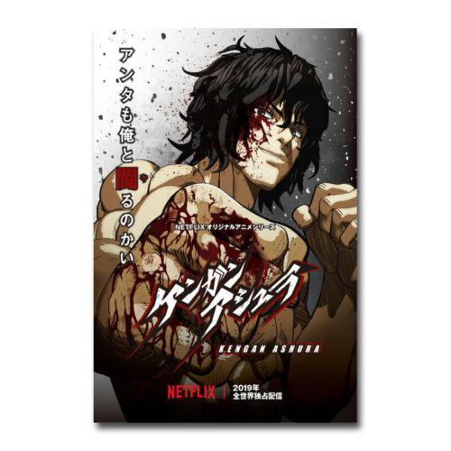 Kengan Ashura Japanese Manga TV Series Art Silk Canvas Poster Print 24x36 inch