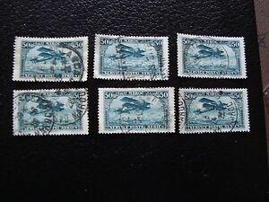 Marokko-Briefmarke-Yvert-und-tellier-Luft-Nr-3-x6-gestempelt-A29-Morocco-E