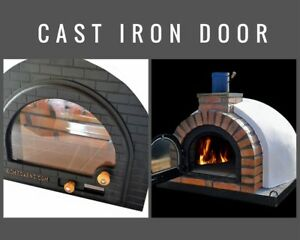 Wood Fired Pizza Oven Cast Iron Glass Door Diy Wood