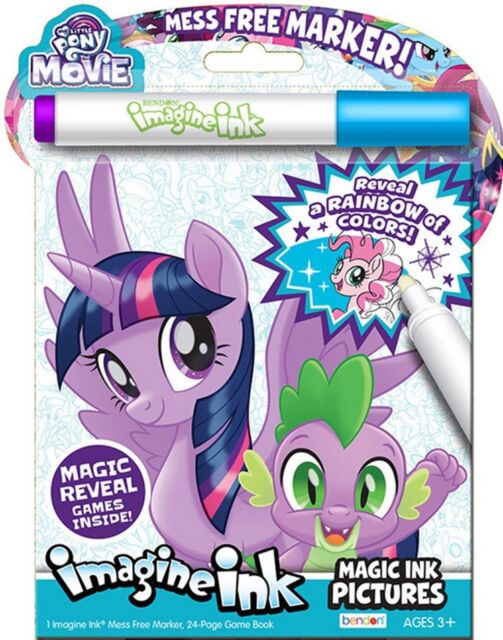 24pg my little pony the movie imagine ink magic pictures activity