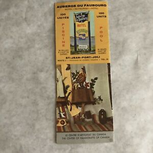 Vintage-Travel-Brochure-Canada-Quebec-Auberge-du-Faubourg-Handicrafts-Inn-Motel