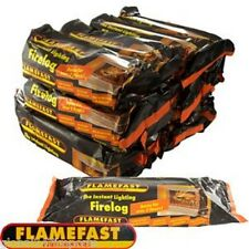 1 FLAMEFAST INSTANT-LIGHT .SMOKELESS FIRE LOG BURNS FOR 2-3 HOURS FLAME FAST