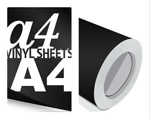 Black-Carbon-Fibre-Vinyl-Sheet-Roll-Car-Wrap-Film-Waterproof-Premium-Grade-10-yr