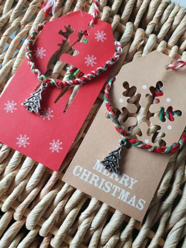 Handmade friendship bracelet Christmas Bracelet Stocking Filler Christmas Tree