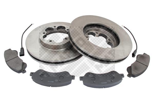 MAPCO Kit Brakes Brake Discs & Front Pads 47666 for Ford Transit