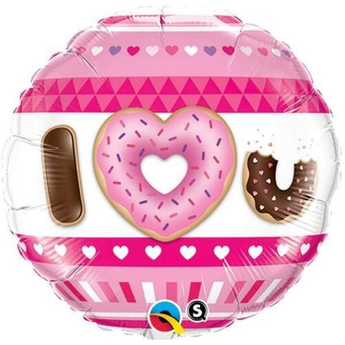"""Je vous aime donuts Valentines 18 /""""qualatex Ballon FOIL"""