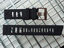 DIVER WATCH STRAP BAND 22MM GENUINE RUBBER BLACK CUSTOM FIT VOSTOK AMPHIBIAN