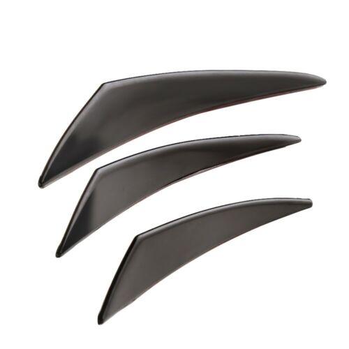 6Pcs Gloss Black Car Front Bumper Lip Splitter Fins Body Spoiler Canards Refit