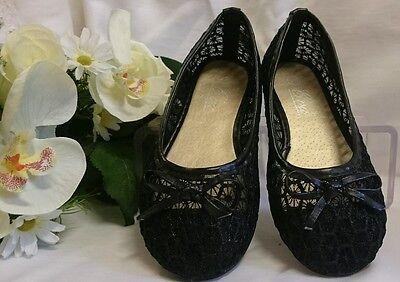 Mädchen Festliche Kinder Schuhe Hochzeit Kinderschuhe Gr. 26 Schwarz Ballerinas