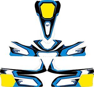 Details Zu Stars Blue Custom Full Kart Sticker Kit Karting Go Kart Jakedesigns