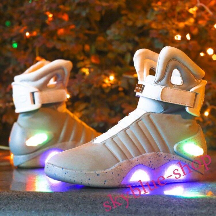 Arrière TO THE FUTURE lumière Guerrier paniers College Haut Top Basket DEL Chaussures