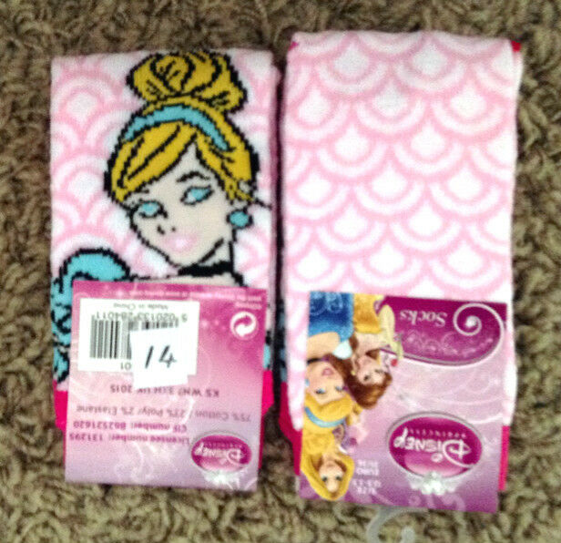 3 PAIRS Girls Disney socks pink princess white tweety aristocrats 12-3 4-6 9-12
