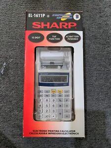 Brand New Sharp EL-1611PA Printing Calculator
