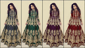 ANARKALI SALWAR KAMEEZ SUIT ETHNIC PAKISTANI DESIGNER BOLLYWOOD PARTY WEAR DRESS