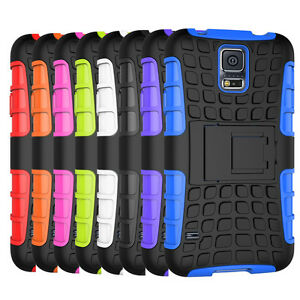 For-Samsung-Galaxy-S5-Case-Dual-Layer-ShockProof-Hybrid-Armor-Kickstand-Cover