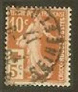 FRANCE-STAMP-TIMBRE-N-147-034-CROIX-ROUGE-SEMEUSE-10c-S-5c-034-OBLITERE-TB