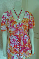 TOGETHER PINK FLORAL MULTI COLOUR TWO PIECE  TUNIC SZE 10 & 14 RRP CLEARANCE