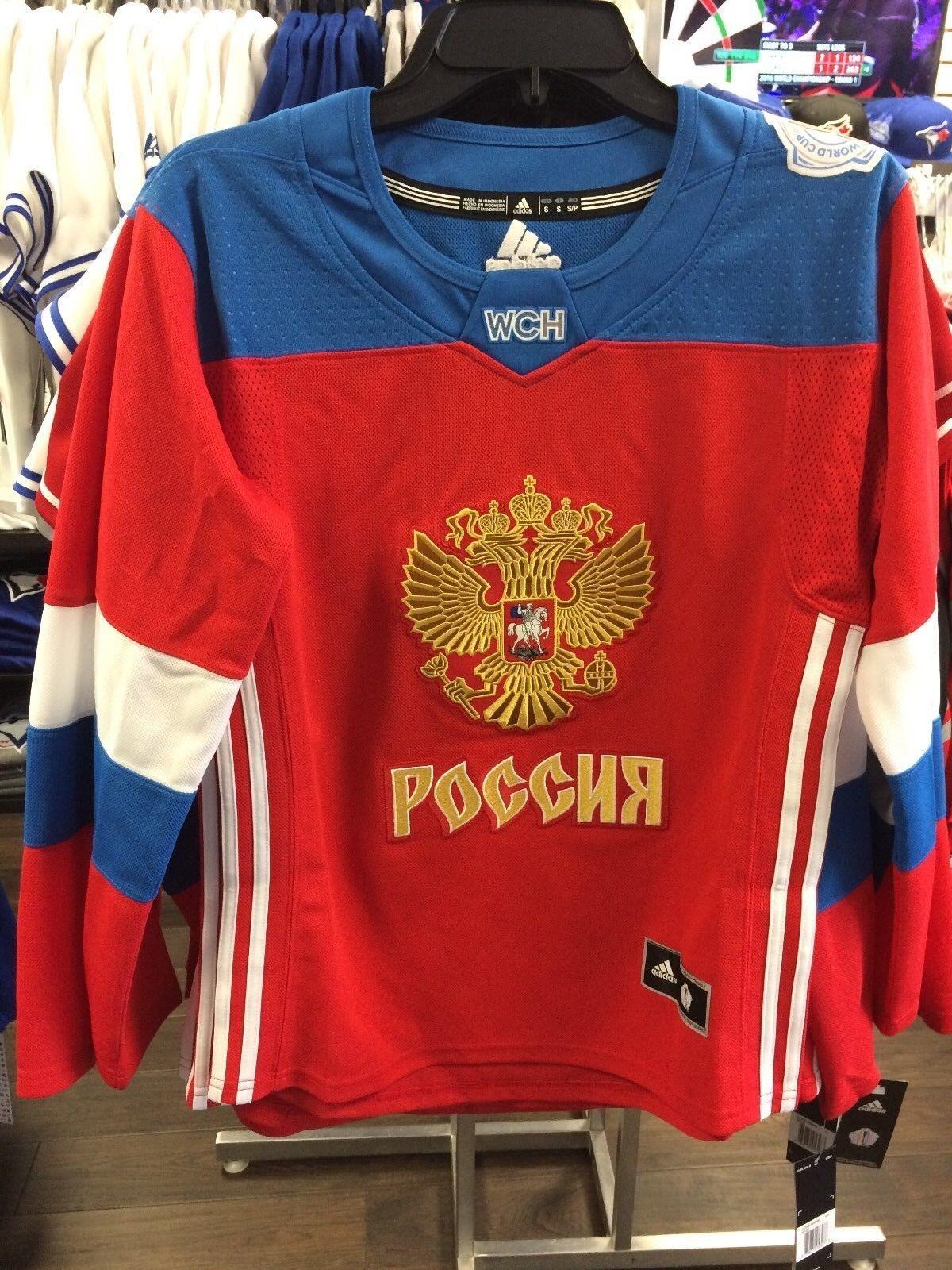 Équipe de la Coupe du Monde de Hockey de Russie de Russie Adidas Jersey Replica Medium Dames Femmes
