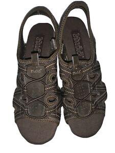 Mudd Open Cut Brown Slip On Flat Women's Open Toe/Heel Sandal - Size 8.5M