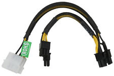 Athena Power Dual 4-pin Molex to Dual 8-pin 6+2 PCI-Express Cable PCIE4628