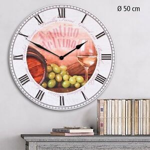 sale retailer 9d779 b4785 Details about Safe Decorative Wall Clock Cantino Vino - Wine La Dolce Vita  in Country Style