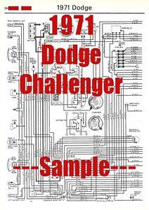 [QMVU_8575]  1971 Dodge Challenger Full Car Wiring Diagram *High Quality Printed Copy* 2  Page | eBay | Challenger Wiring Diagram |  | eBay