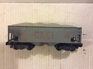 American Flyer By Gilbert 24221 C&EI 2 Bay Hopper With Load