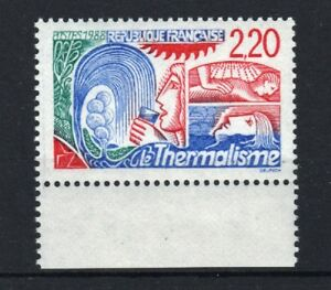 FRANCE-STAMP-TIMBRE-2556a-034-THERMALISME-VARIETE-2-20-ROUGE-034-NEUF-xx-LUXE-R517