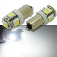 2  stk  T10 BA9S 5050 SMD 5 LED T4W 12V Auto Car LED Lampe Super Weiß Rücklicht