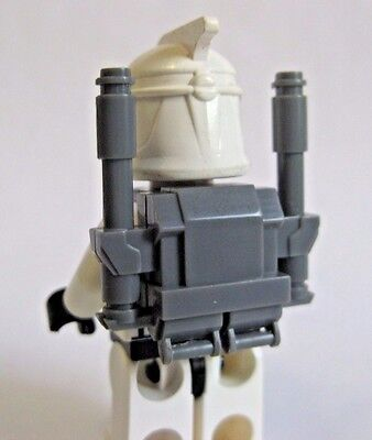 White for Clone Star Wars Minifigures Custom CLONE COMMANDO Heavy Backpack
