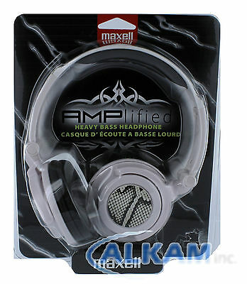 Maxell AMPlified Heavy Bass Headphone White Python Color 190228 Brand New Sealed