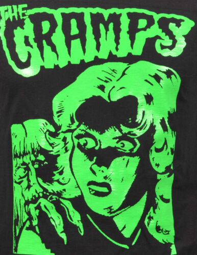 THE CRAMPS MENS T-SHIRT PSYCHOBILLY B-MOVIE HORROR LUX INTERIOR POISON S-5XL