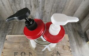 Mason-Jar-Soap-Or-Lotion-Pump-Lid-Dispenser-Lid-Eight-Colors-To-Choose-From