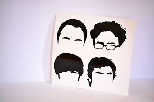 The-Big-Bang-Theory-Hair-Silhouette-Precision-Cut-Vinyl-Decal-Choose-Your-Color