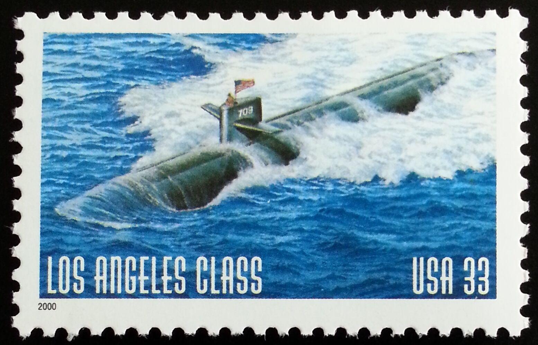2000 33c U.S. Navy Submarines Los Angeles Class Scott 3