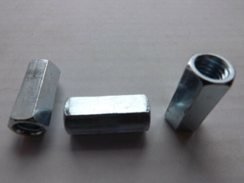 THREADED ROD HEX COUPLING EXTENSION NUTS 1//4-20  Qty 25