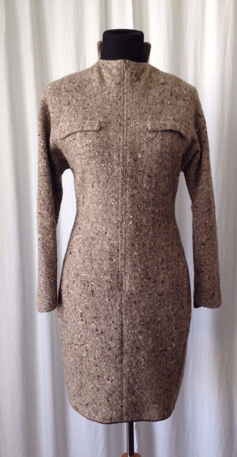 VINTAGE GEOFFREY BEENE NEW YORK  tweed dress size S M