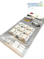 18x Cable Cord Wire Line Organizer Clips Fixer Fastener Tidy Holder Desk Wall S