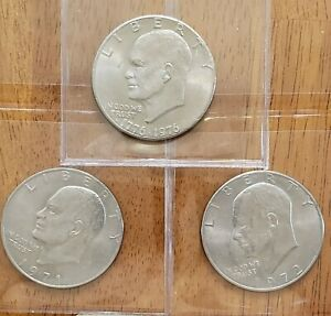 3-Different-Eisenhower-Ike-Dollars-Check-It-Out-AA175-1