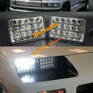 2pcs led headlights for chevrolet gm c4500 and c5500. Black Bedroom Furniture Sets. Home Design Ideas