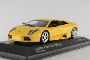 A-S-S-MINICHAMPS-Pma-1-43-Lamborghini-Murcielago-Giallo-Orion-neuf-dans-sa-boite-En-parfait-etat