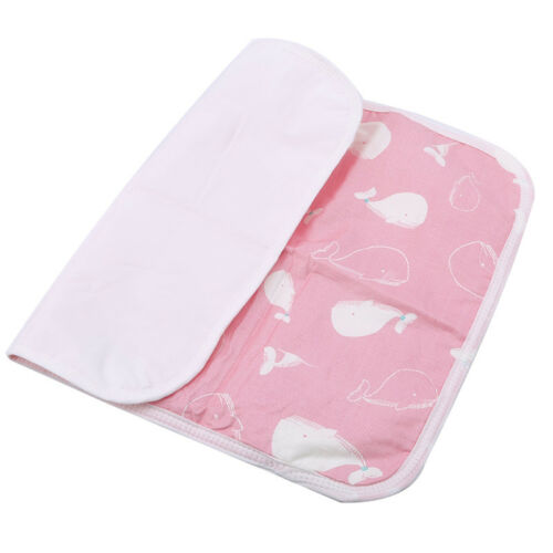 Baby Cartoon Changing Mat Portable and Fold Washable Infants Waterproof Pad