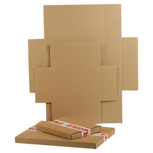 100 C5 Brown Royal Mail Large Letter Die Cut Folding Postal Cardboard Boxes