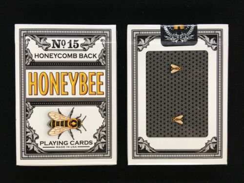 Black Honeybee v1 Playing Cards Randy Butterfield /& Penguin Magic USPCC printed