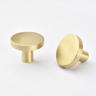 Brushed Brass Modern Cabinet Drawer Door Knob Round Cupboard Kitchen Pull  Handle | EBay